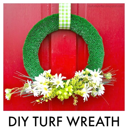 diy turf wreath