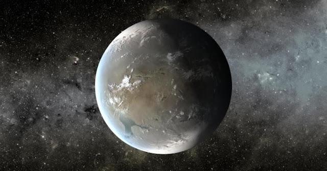 An artist's depiction of Kepler-62f. Image credit: NASA Ames/JPL-Caltech/T. Pyle