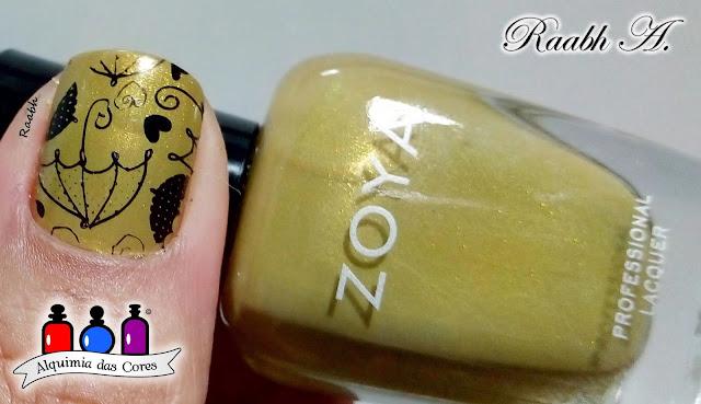 Zoya, Zoya Scout, Verde, unhas carimbadas, BP-179, nail art, shimmer, Raabh A. 2019,