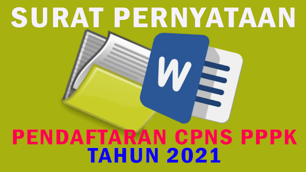 15++ Contoh surat pernyataan pppk 2021 terbaru terbaru