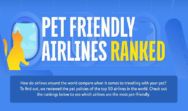 Top 50 pet-friendly airlines in the world #infographic