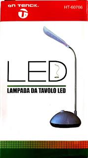 lampada da tavolo 4 led pieghevole on tenck