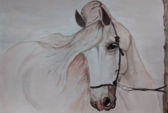 Horse 1, painting by Mrudula Bapat (part of her portfolio on www.indiaart.com)