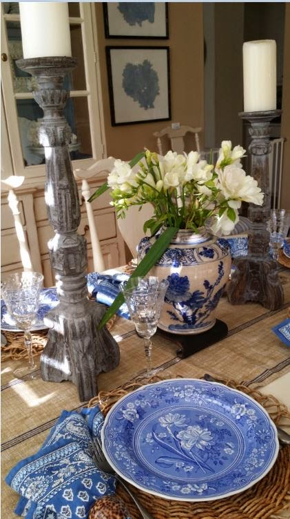 Tg Interiors Blue And White Tablescape