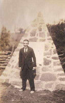 Woody Woodring at Gov. Spotswood monument October 1926