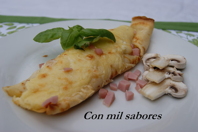 Crepes De Jamón Y Champiñones.