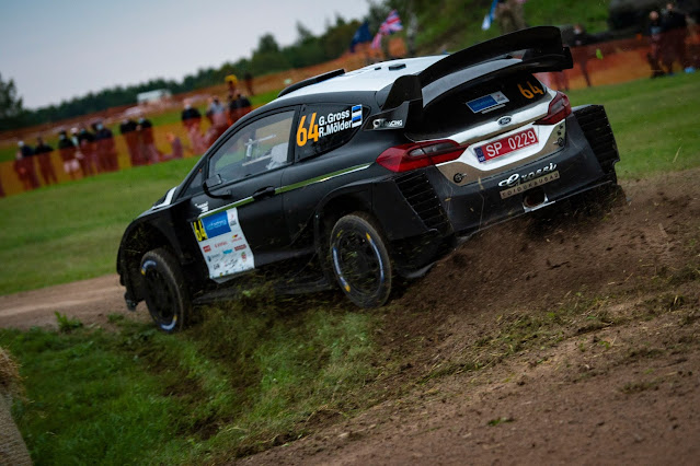 Ford fiesta R5 WRC3 on estonia rally
