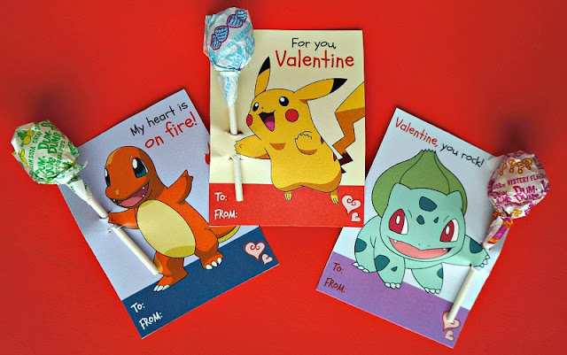 printable pokemon valentine cards