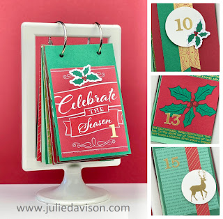 Stampin' Up! Wonder of the Season Memories & More Cards Advent Flip Calendar Kit ~ www.juliedavison.com~ August-December 2020 Stampin' Up! Mini Catalog #stampinup