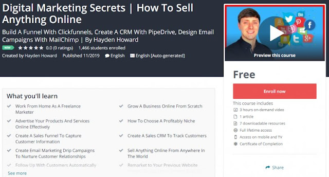 [100% Free] Digital Marketing Secrets | How To Sell Anything Online