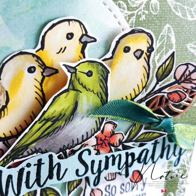 bird ballad sympathy card
