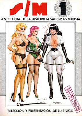 comic BDSM antologia luis vigil gwendoline