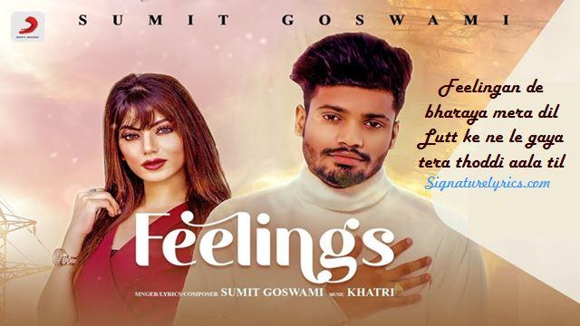 Feelings Lyrics - Sumit Goswami - Haryanvi Song