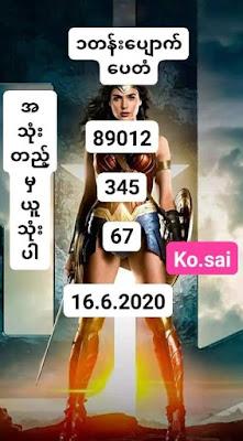 Thailand Lottery 3up Open Number Facebook Timeline 16 June 2020