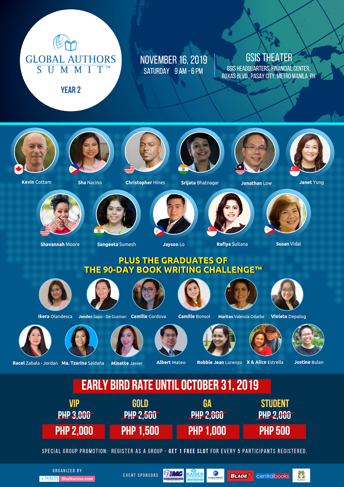 Global Authors Summit 2019 Poster