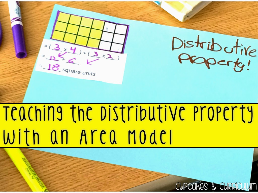 Cupcakes Amp Curriculum Teaching Distributive Property Using An Area Model