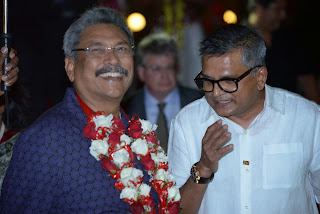 Mr. Page with Hon. Gotabaya Rajapaksa, Secretary of Defence and Urban Development