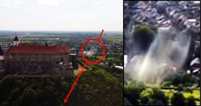 UFO-Fastwalker almost hits amateur drone over Mukachevo, Ukraine  Ufo-fastwalker-drone-ukraine