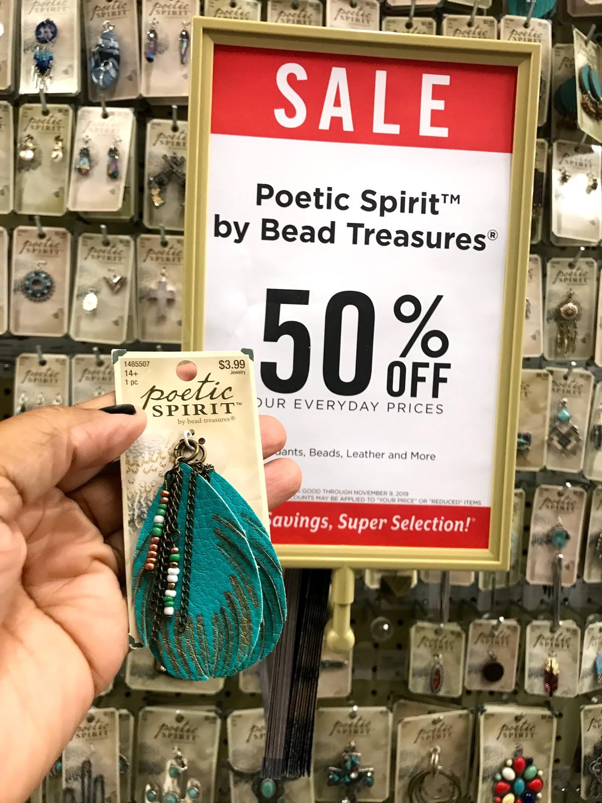 Turquoise poetic spirit earrings on sale at Hobby Lobby