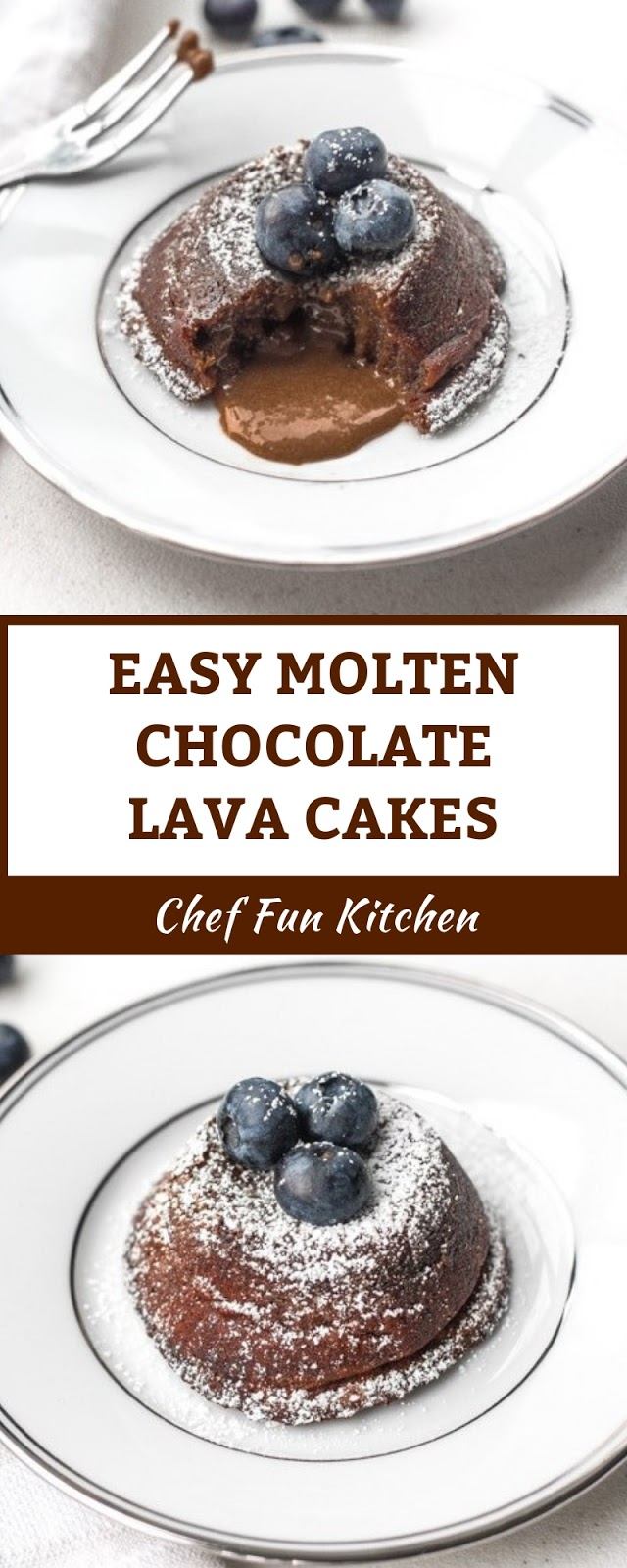 EASY MOLTEN CHOCOLATE LAVA CAKES