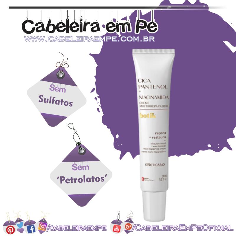 Creme Multirreparador Cica Pantenol + Niacinamida Botik - O Boticário