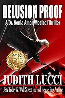 Delusion Proof - medical thriller by Judith Lucci - book promotion services