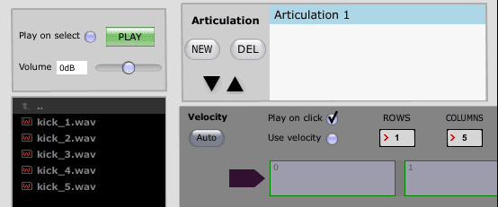 Enter rows and columns in Slate Trigger 2 Instrument Editor