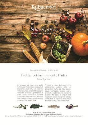 "A Château Monfort il Brunch Privèe assapora ""Frutta Fortissimamente Frutta"" 9 ottobre Milano"