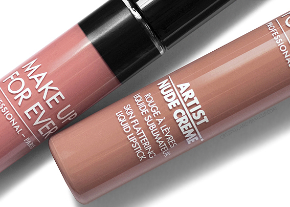 Make Up For Ever Artist Nude Creme Skin Flattering Liquid Lipsticks MUFE Photos