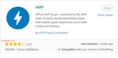 Cara Setting AMP di WordPress