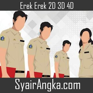 Erek Erek Menjadi Pegawai Negeri 2D 3D 4D
