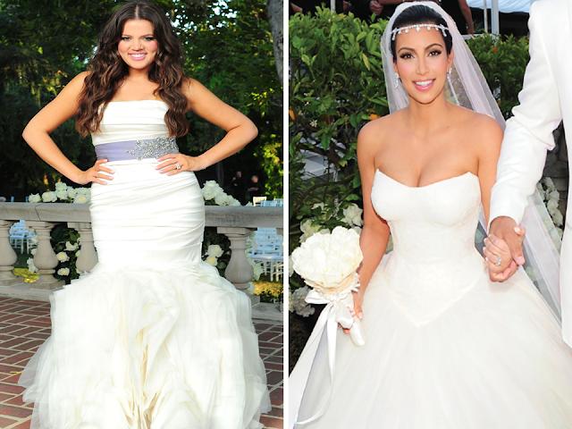 vestido de noiva kardashian