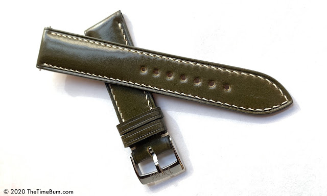 Delugs Watch Straps Shell Cordovan Signature olive
