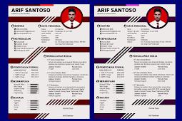 Contoh CV Lamaran Kerja Menarik dan Kreatif - Design #8