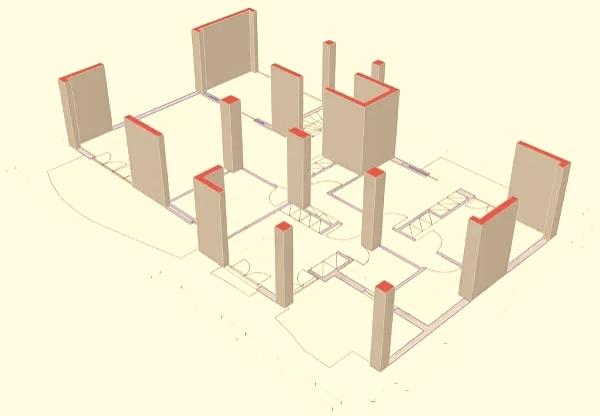 نظام جدران ربط الأعمدة (حوائط أطرافها أعمدة)Column supported shear walls