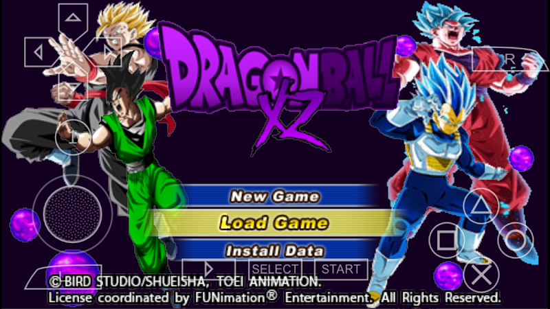 Android Game Dragon Ball XZ Tenkaichi Tag Team Mod PSP