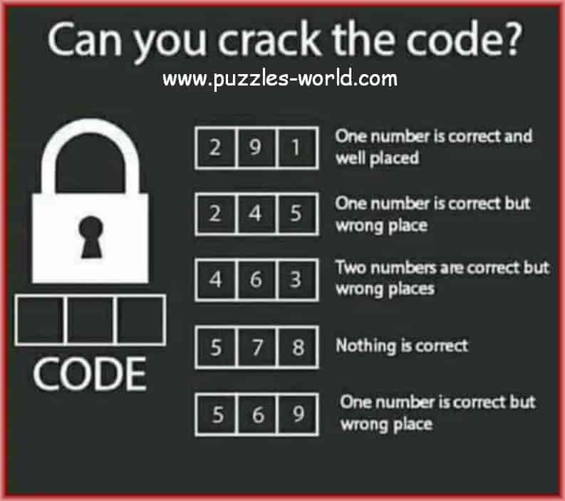 Can you Crack the Code Logic Puzzle