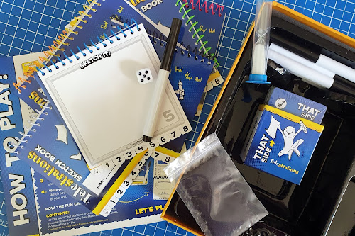 Telestrations game review box contents