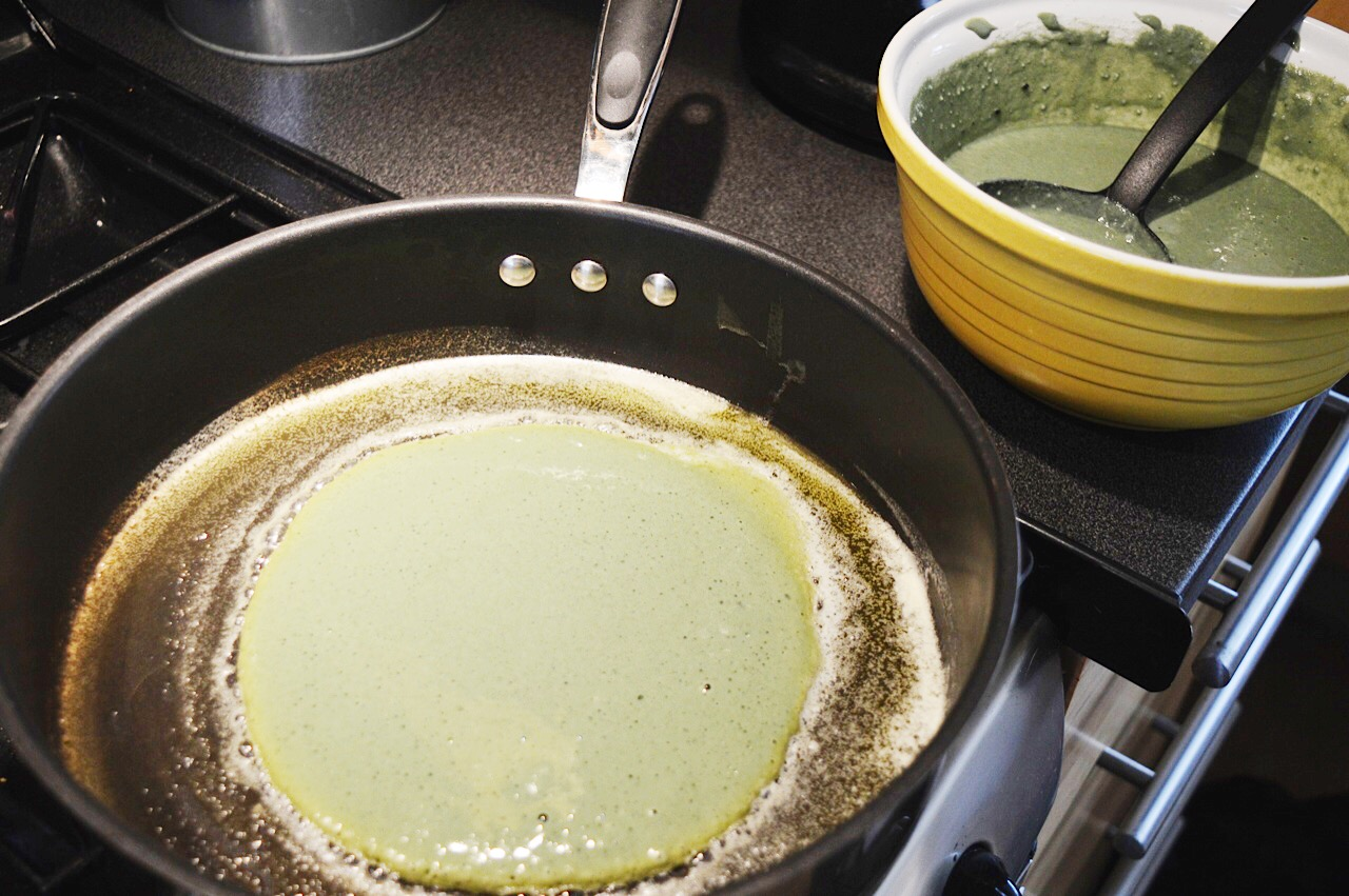 Gluten free super green pancakes recipe, food bloggers, FashionFake