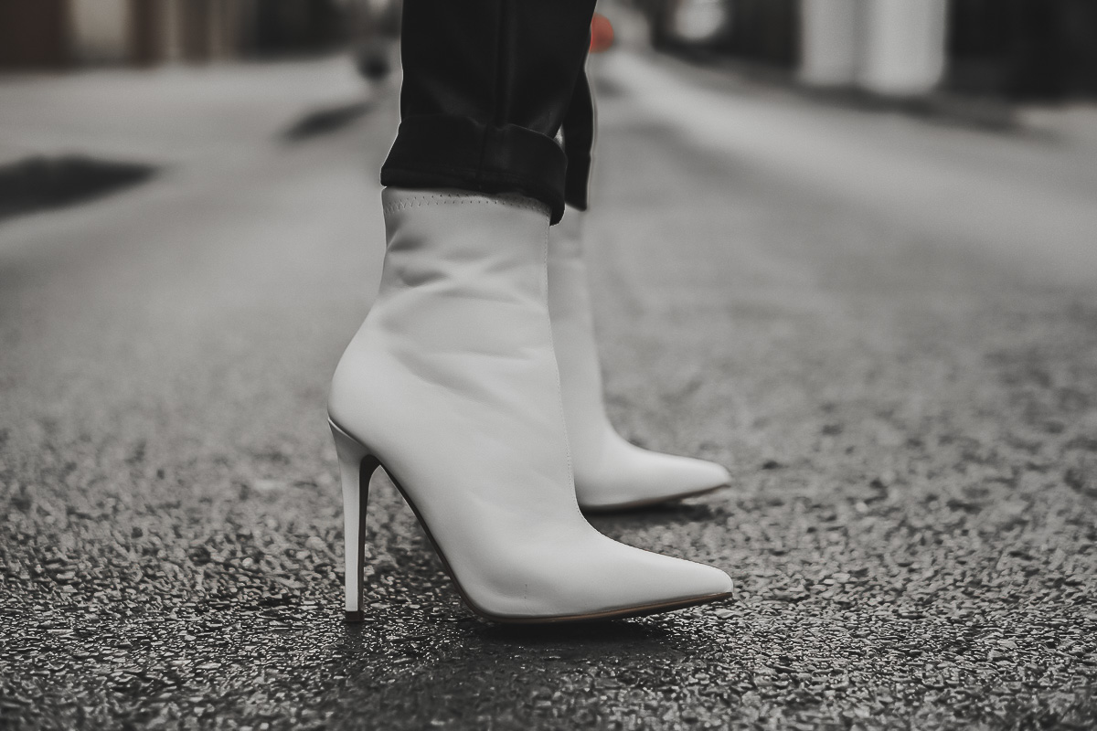 botines blancos