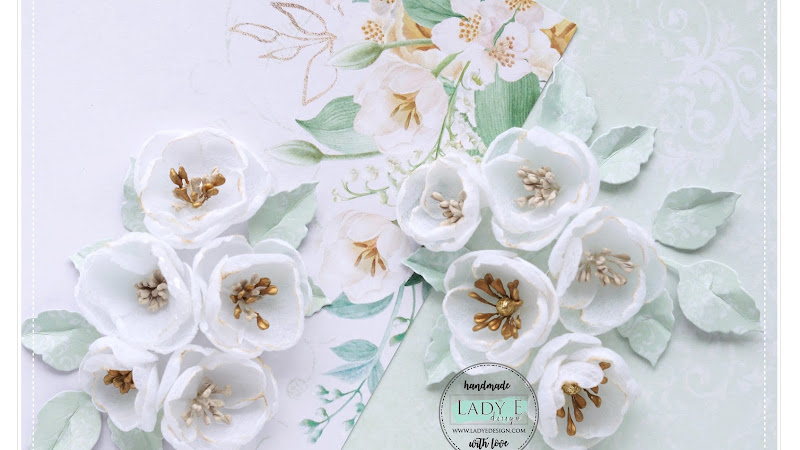 Fabric Flowers for Cards