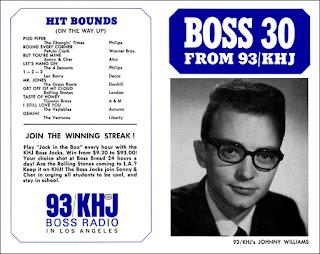 KHJ Boss 30 No. 11 - Johnny Williams