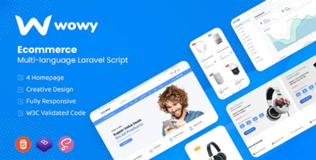 Wowy - Multi-language Laravel eCommerce PHP Script