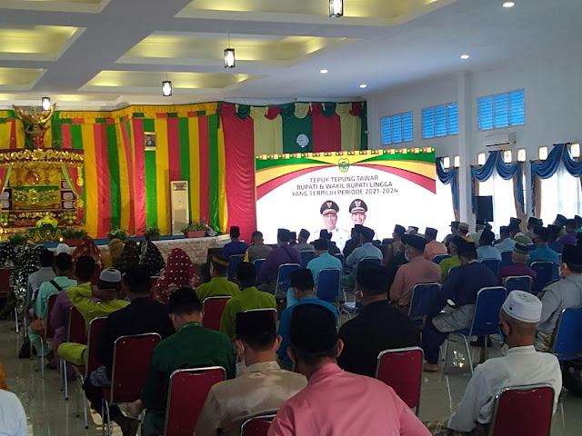 LAM Kepri Kabupaten Lingga Gelar Tepuk Tepung Tawar Kepada Bupati dan Bupati Lingga