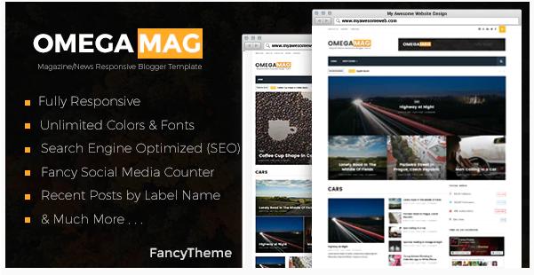 OmegaMag Template Blogger Responsive Magazine