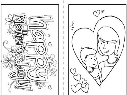 Printable Happy Mothers Day Cards Free ECards Coloring Pages