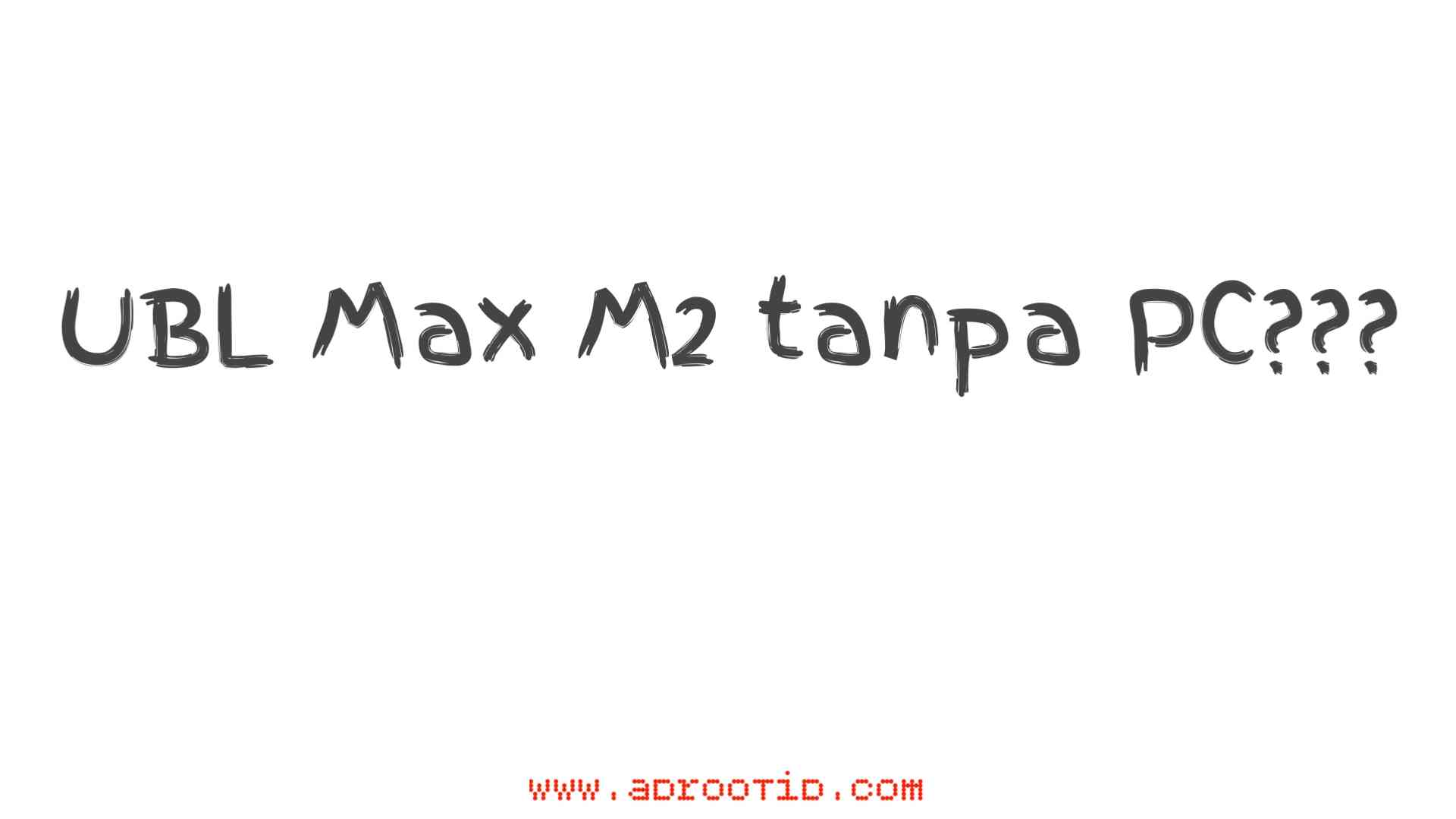 Unlock Bootloader Max M2 tanpa PC!