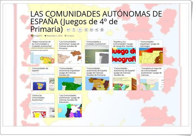 """""""12 Juegos para el estudio de LAS COMUNIDADES AUTÓNOMAS DE ESPAÑA en 4º de Primaria"""""""