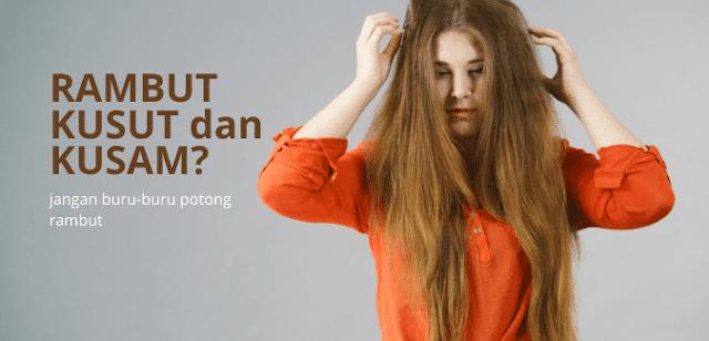 mengatasi rambut kusut
