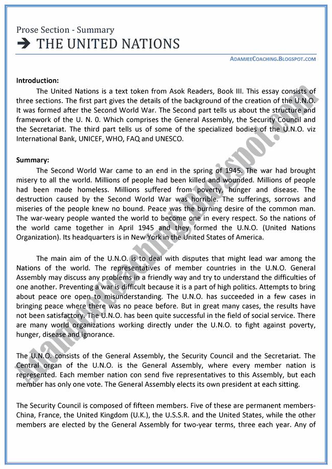 Adamjee Coaching: English XI - [The United Nations